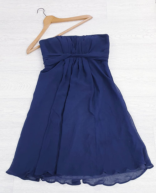 Debut navy strapless dress. Uk 12