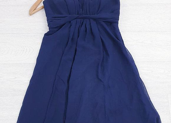 Debut navy strapless dress. Uk 12