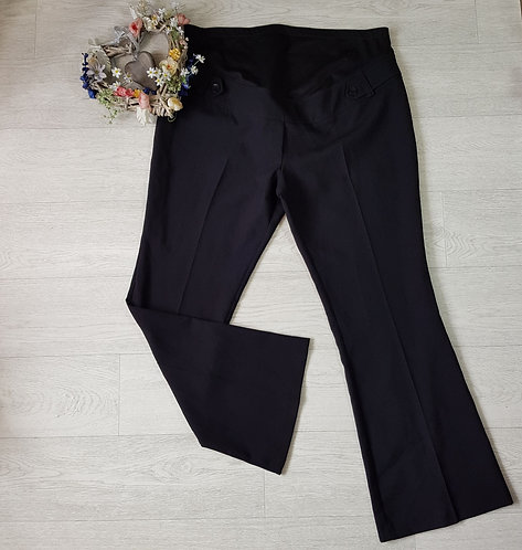 E-vie black bootcut tailored maternity trousers. Size 16