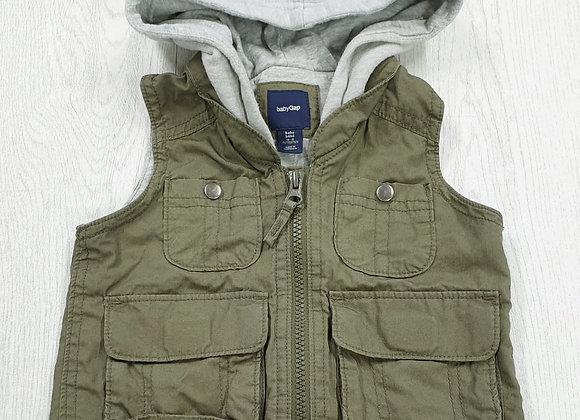 Baby Gap hooded gilet. 12-18m