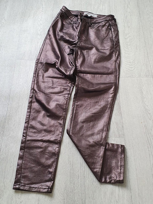 Anthology Sadie slim metalic trousers. Size 10