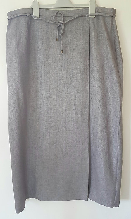 BERKERTEX. Stone colour long skirt with zip back. Size 18.
