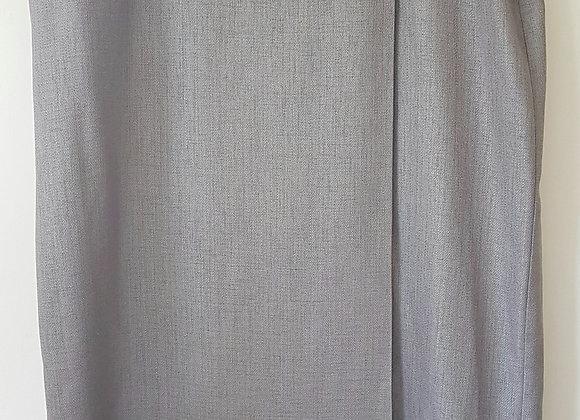 BERKERTEX. Stone colour long skirt with zip back. Size 18.