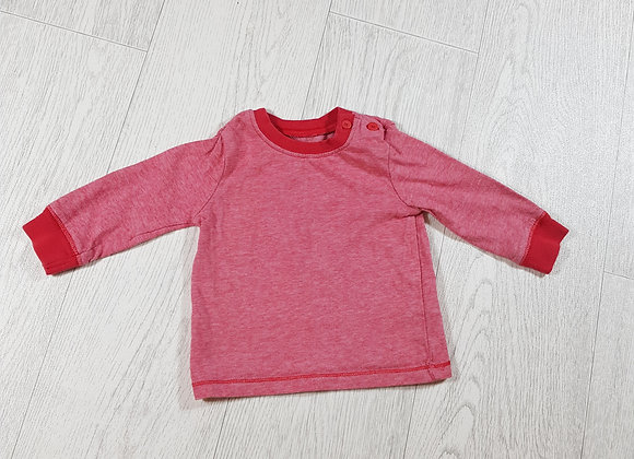 🐠F&F boys red long-sleeve top size up to 3 months