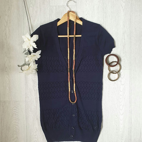 🧡Topshop navy short sleeved cardigan. Size 8