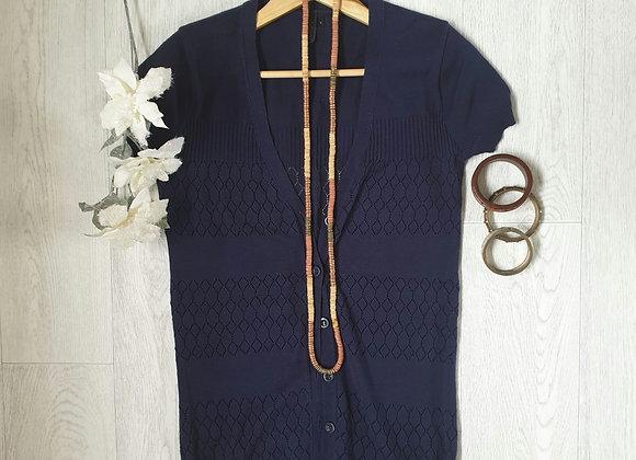 🧡Topshop navy short sleeved cardigan. Size 8
