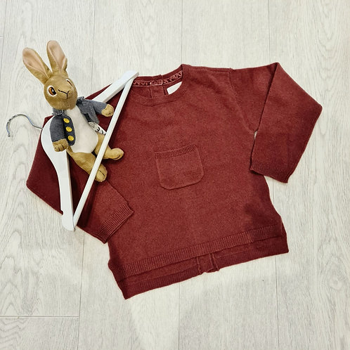 🍁Signature by Next rust cashmere jumper with button up back. 2-3yrs