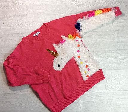 Next bright pink knit Unicorn sweater. Size L (NWOT)