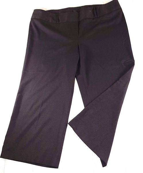 Evans plum/charcoal mix wide leg trousers. Size 28