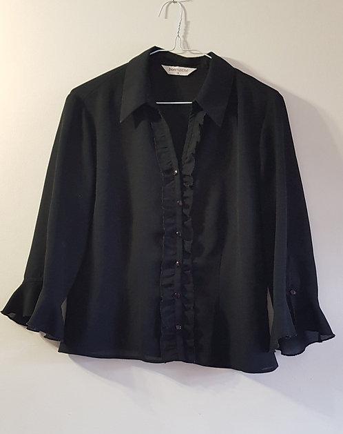 BONMARCHE Black lightweight transparent blouse. Size 14