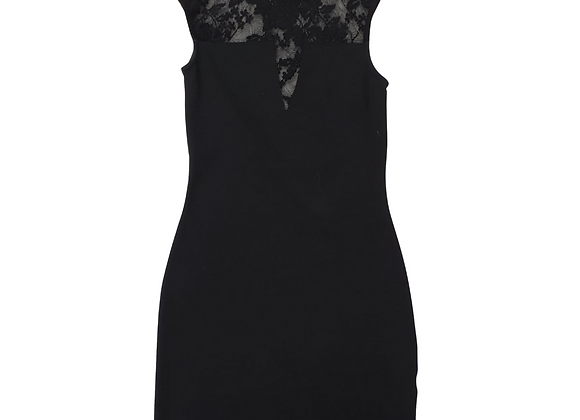 River Island black dress with lace top. Uk 8
