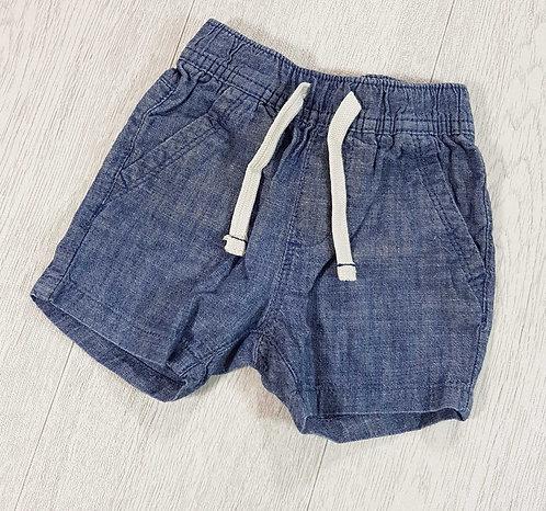 Next soft denim look shorts 9-12m