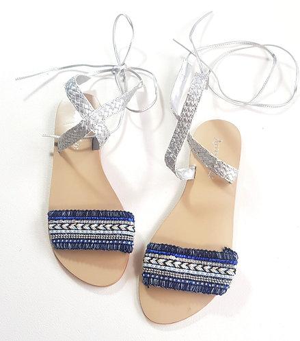 Accessorize ankle tie sandals. Size 6/39