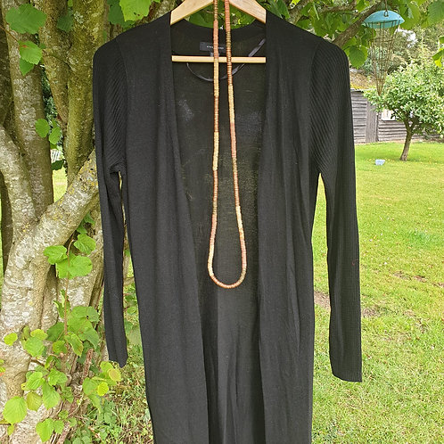 🧡ATMOSPHERE long black open cardigan. Size 10