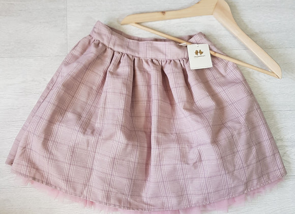 Chickeeduck pink lined skirt. 9-10yrs NWT