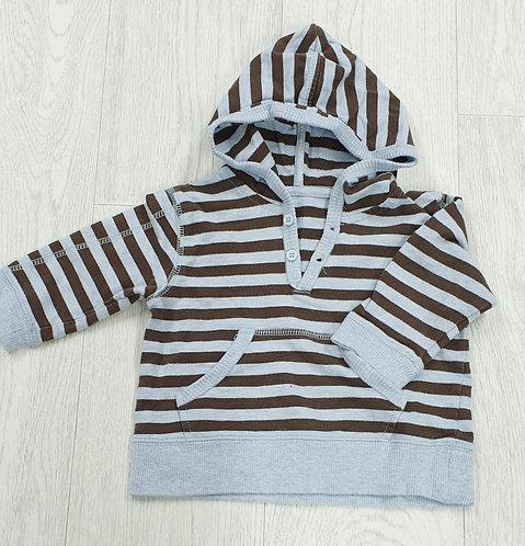 George striped hoody 3-6m