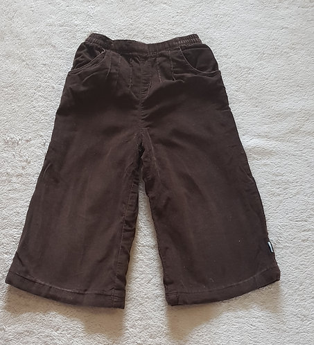 OBAIBI Brown chord trousers. 100% cotton 23 months. KEEP AWAY FIRE