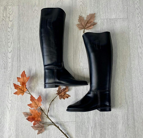 🌻Hawkins Chaser Black riding boots complete with boot bag. Size 4