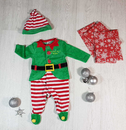 ◽Tu soft elf suit and hat. Up to 3months