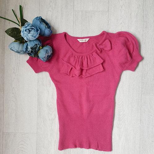 🧡Miss Selfridge bright pink knit top. Size 8