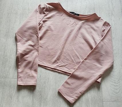 Boohoo pink crop sweater. Uk 12 / US 8