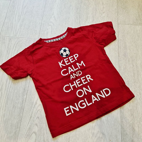 🍁Rebel red England tshirt. 2-3yrs