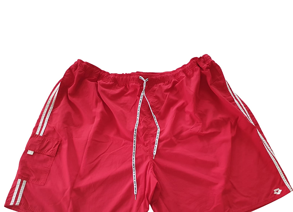 Arena red swim shorts. Size 5XL