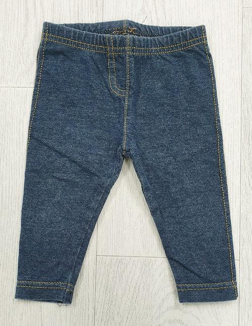 Bluezoo denim look leggings. 3-6m