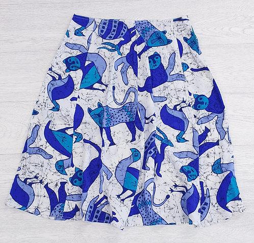 Animal print skirt. Uk 10