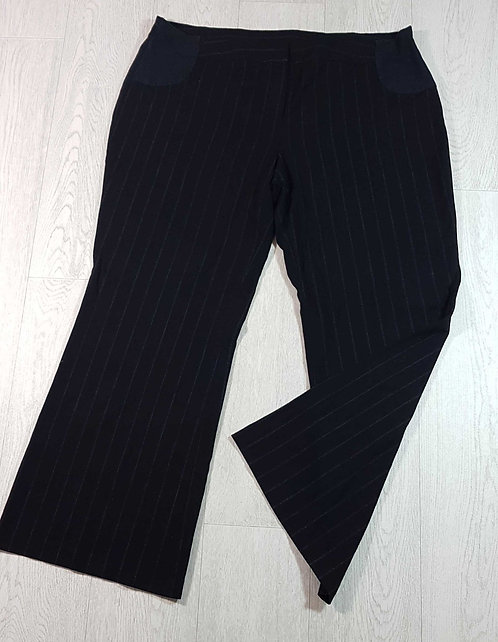 ◾Next maternity bootcut pinstripe bootcut trousers with adjustable waist.