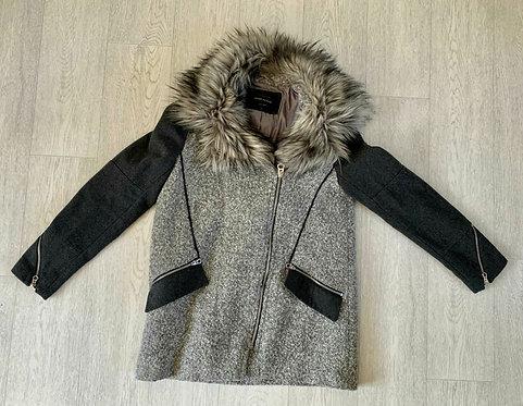 🌗RIVER ISLAND Grey mix coat. Size 10