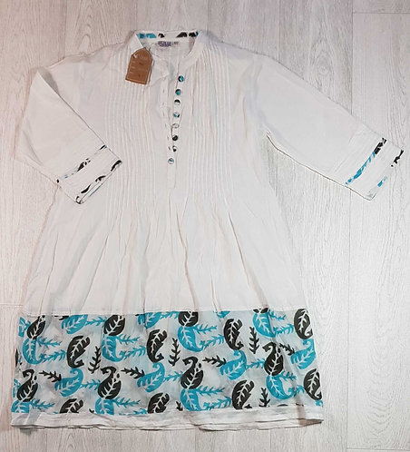 ◾Bazar white cotton tunic. Size 10/12