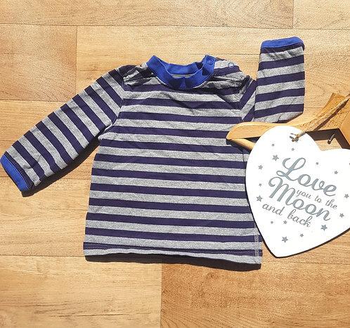 Mini Club striped long sleeved top 6-9m