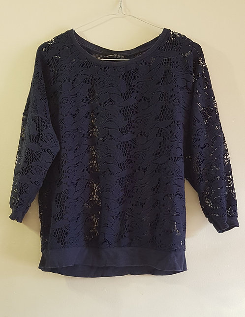 ATMOSPHERE Navy lace top