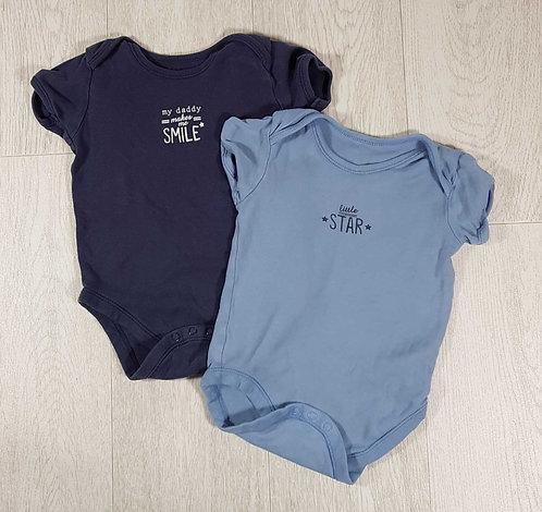 ◾George blue vests.'My Daddy makes me Smile' 18-24m