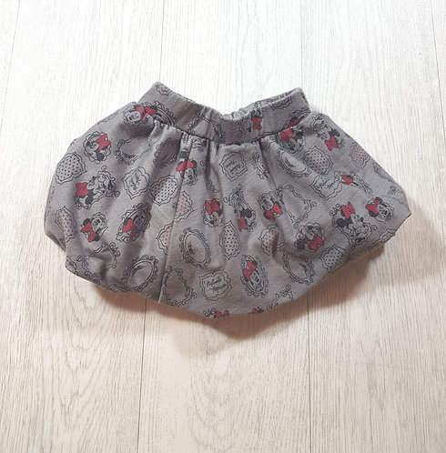 🌈George grey Minnie Mouse puff skirt size 6 / 9 months