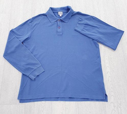 🌑Armani blue long sleeve polo shirt. Size L
