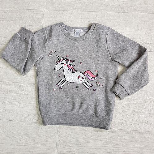 Primark grey Unicorn jumper. 6-7yrs