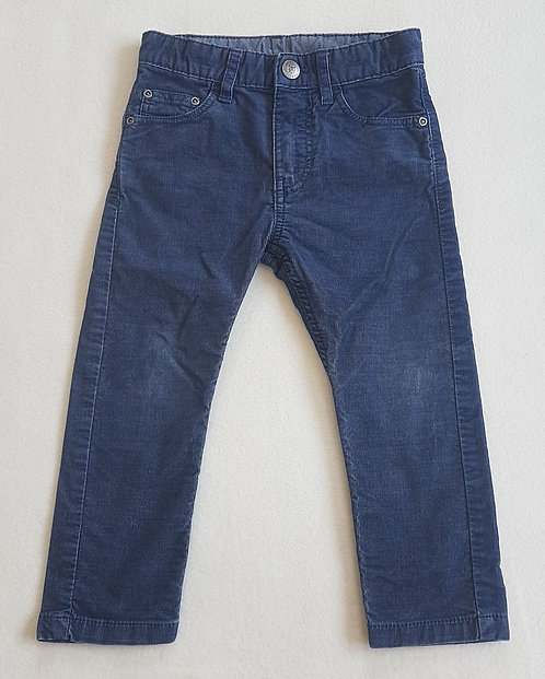 H&M. Blue trousers with adjustable waist. Size 2-3 years.