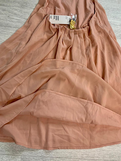 🌻H&M nude halter neck dress/long top. Size 8 NWT