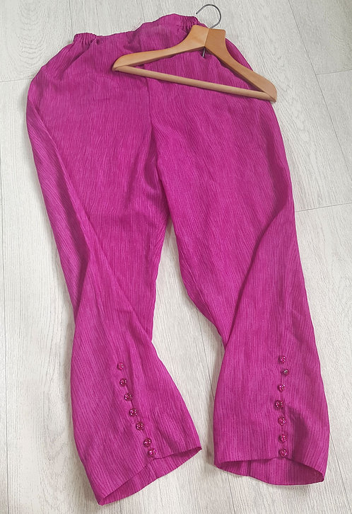 🔵Handmade ethnic lightweight trousers with gem detail on leg size 10