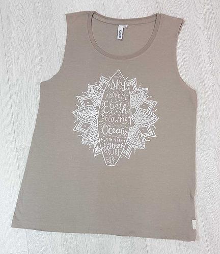 Saltrock beige vest top. Size 12
