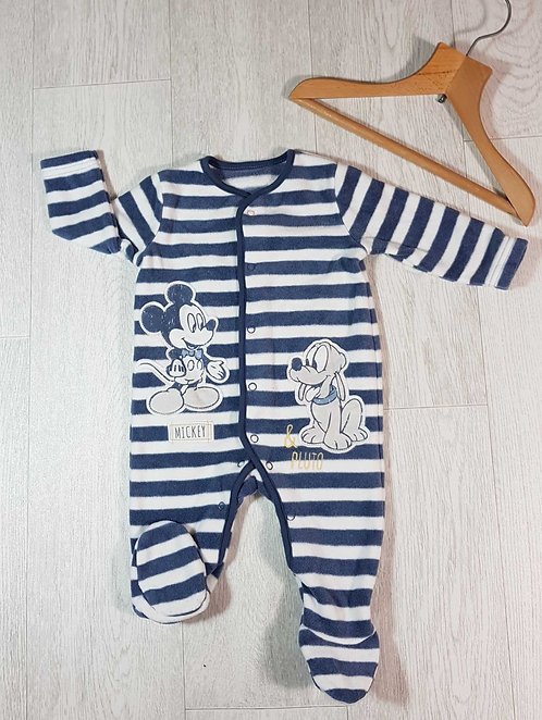 ◾Disney Mickey and Pluto fleece sleep suit  3-6months