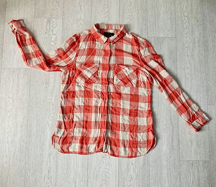 🐢ATMOSPHERE peach check shirt. Size 12
