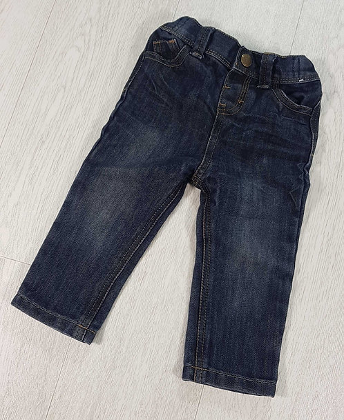 Denim Co dark rinse jeans. 12-18m