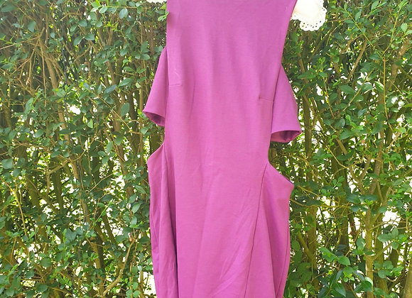 🌼Asos purple dress with cut out sides. Size 14