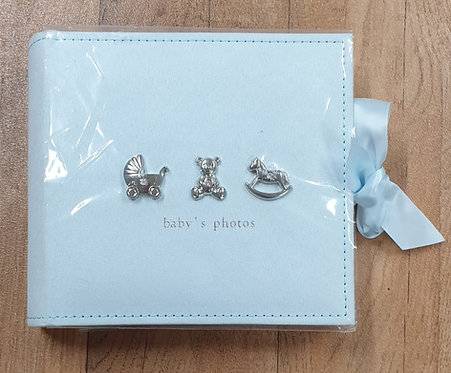 Baby blue photo album NWOT