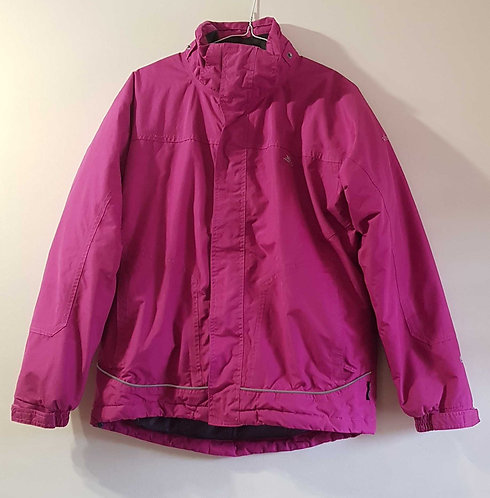 Trespass pink thick lined waterproof coat 15-16yrs