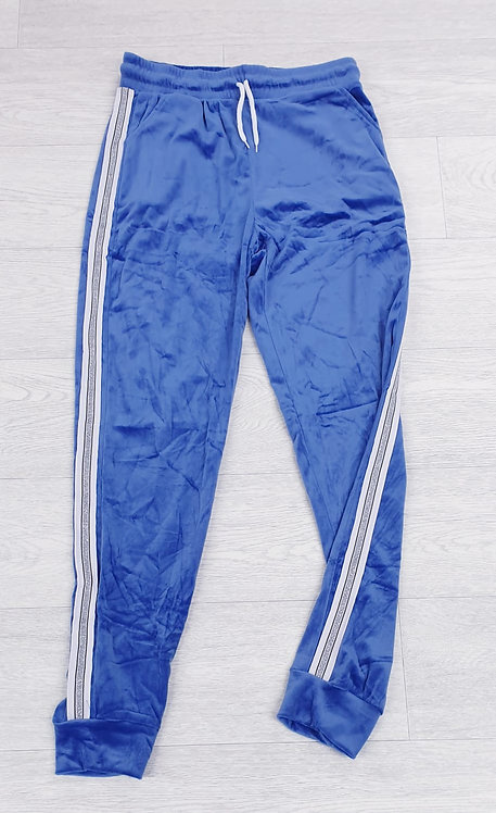 Blue velour tracksuit bottoms. S/M NWOT