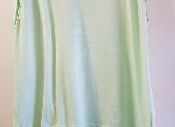 ATMOSPHERE Green Tshirt top with lace shoulders. Size 16
